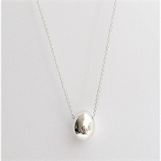 Egg Necklace Silver-jewellery-The Vault