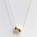 Opulence Necklace Silver Gold Plated