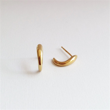 Curl Earrings Gold Plated