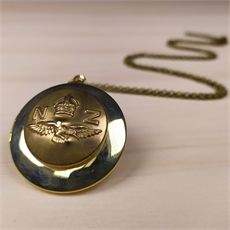 Military Button Locket Brass-jewellery-The Vault