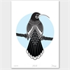 Huia Limited Edition Print A4-home-The Vault