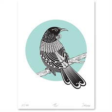 Tui Limited Edition Print A4-artists-and-brands-The Vault