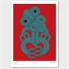 Red Tiki Limited Edition Print A4-home-The Vault