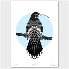 Huia Limited Edition Print A3-artists-and-brands-The Vault
