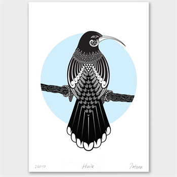 Huia Limited Edition Print A3