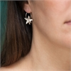 Star Anise Hoop Earrings Silver-jewellery-The Vault