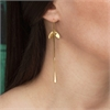 Aarahi Earrings French Hooks 22ct GP-jewellery-The Vault