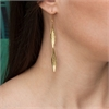 Karohirohi Earrings Long Hook 22ct GP-jewellery-The Vault