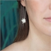 Mt Cook Lily Stems Earrings Silver-jewellery-The Vault