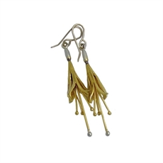 Kotukutuku Earrings Gold Plated Silver-jewellery-The Vault