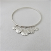 5 Leaf Disk Bangle Silver-jewellery-The Vault