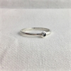 Baby Solitare Ring Silver S+ P Diamond-new-The Vault