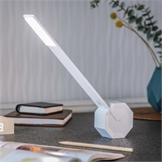 Octagon One White Desk Light-lifestyle-The Vault