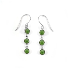 Three Muses Pounamu Earrings-jewellery-The Vault