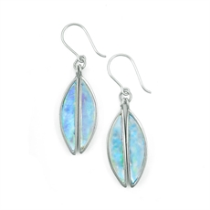 Antipodes Earrings Paua Hooks-jewellery-The Vault