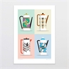 Retro Teapots A4 Print-home-The Vault