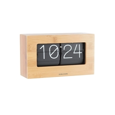 Karlsson Flip Clock Boxed Bamboo-home-The Vault