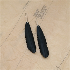 Up-Bicyled Feather Earrings Small-jewellery-The Vault