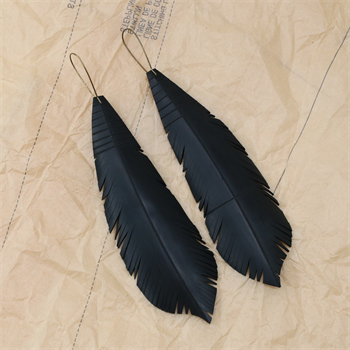 Up-Bicycled Feather Earrings Large