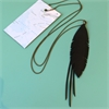 Up-Bicycled Feather Necklace w Strands-jewellery-The Vault