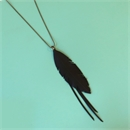Up-Bicycled Feather Necklace w Strands