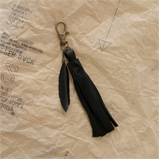 Up-Bicycled Mini Feather Keyring w Tassel-ronja-schipper-The Vault