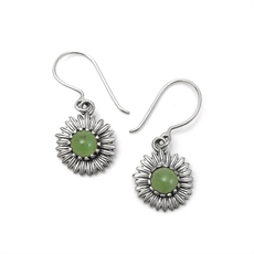 Daisy Earrings Pounamu-jewellery-The Vault