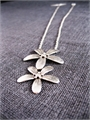 Two Drop Antiqued Silver Blossom Nlace-jewellery-The Vault